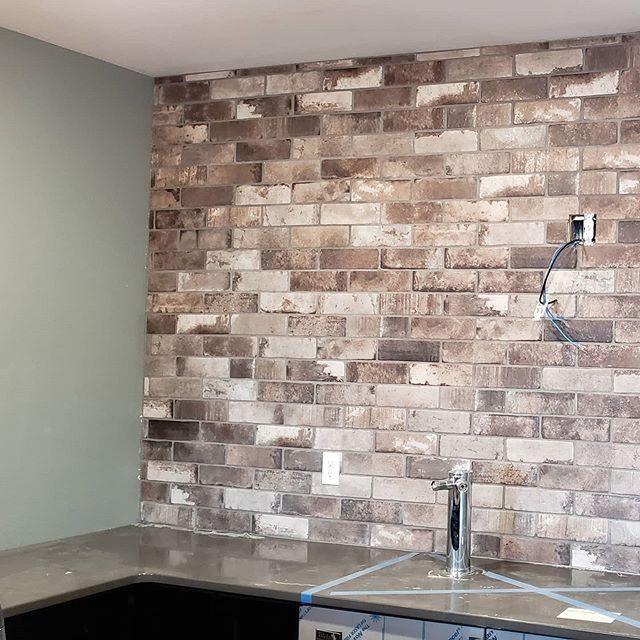 It's like you're there ?  Jeffery Court Brick Tile ?  #tile #tileinstallation #tiledesign #flooring #homedesign #interiordesign #northdakota