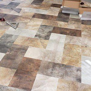 Valley City North Dakota installation of Beauflor Pure LVT flooring by LaValle Flooring in 2020 at Posh Salon.