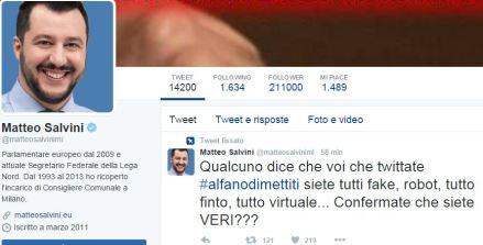 Thumbnail for Salvini di nuovo in testa alla classifica grazie ai bot. E' @Gilda35 che svela l'arcano