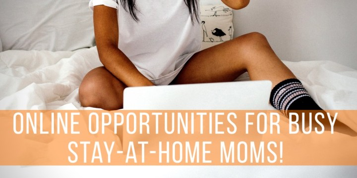Online Opportunities for Busy Stay-at-Home Moms!