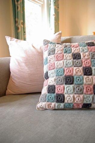 Emma Lamb Tiny Squares patchwork cushion