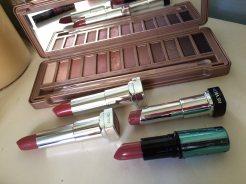 Marsala lipsticks and Naked 3