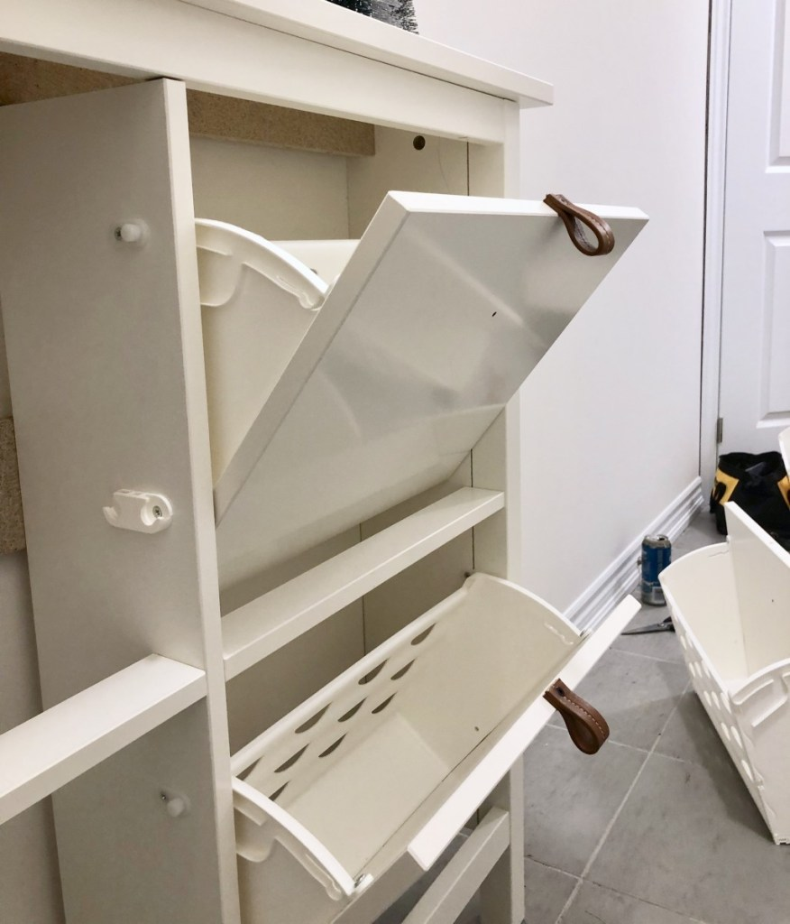 Ikea shoe cabinet hack  progress