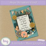 """Hope"" Bible Scripture Card"