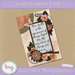 """Faith"" Printable Scripture Card"