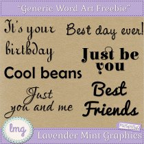 Free Digital Scrapbooking Word Art