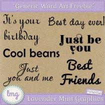 Free Digital Scrapbooking Word Art