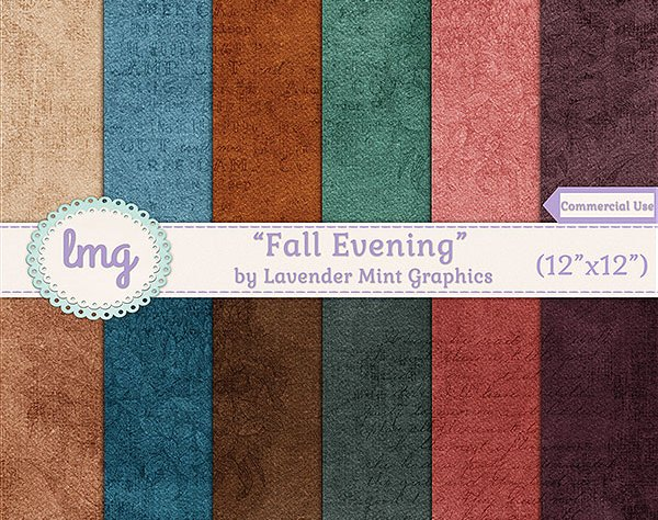 Fall Autumn Digital Scrapbook Paper