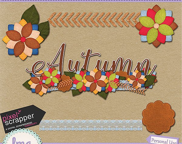 Digital scrapbook word art and elements