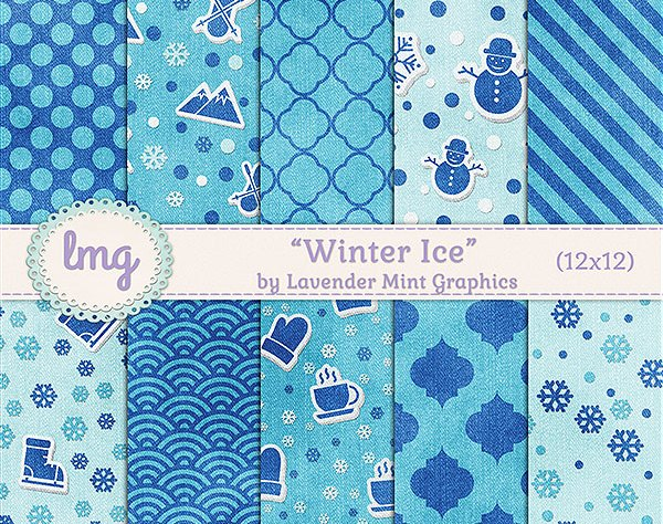 Winter Digital scrapbook paper