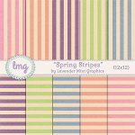 """Spring Stripes"" Digital Papers"