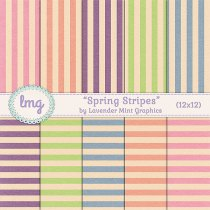 Striped Digital Scrapbooking Papers