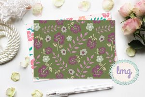 Lavender Mint Graphics - Vintage Notecards
