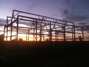 barn-at-sunset-being-taken-down