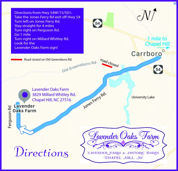 Directions to Lavender Oaks Farm image