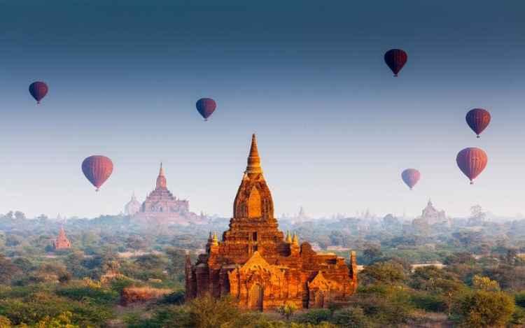 Bagan, Burma/Myanmar -  Best Tropical Destination to Visit in January