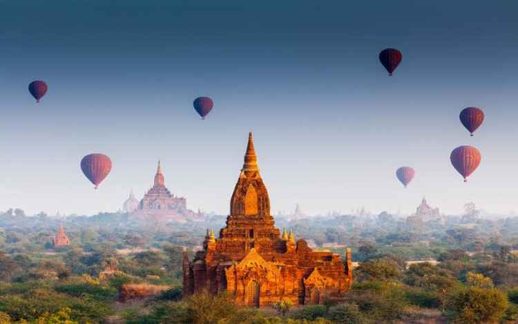 Bagan, Burma/Myanmar -  Best Tropical Destination to Visit in January