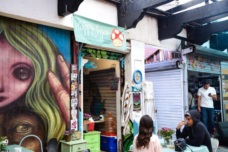 Tijuana, Mexico Hipster Scene, Happy Vegan