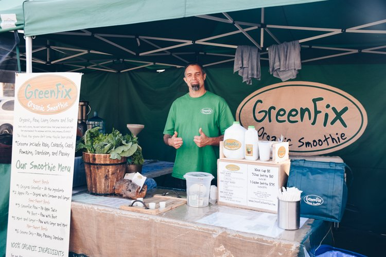 San Diego County Farmers Markets - Green Fix Organic Smoothies
