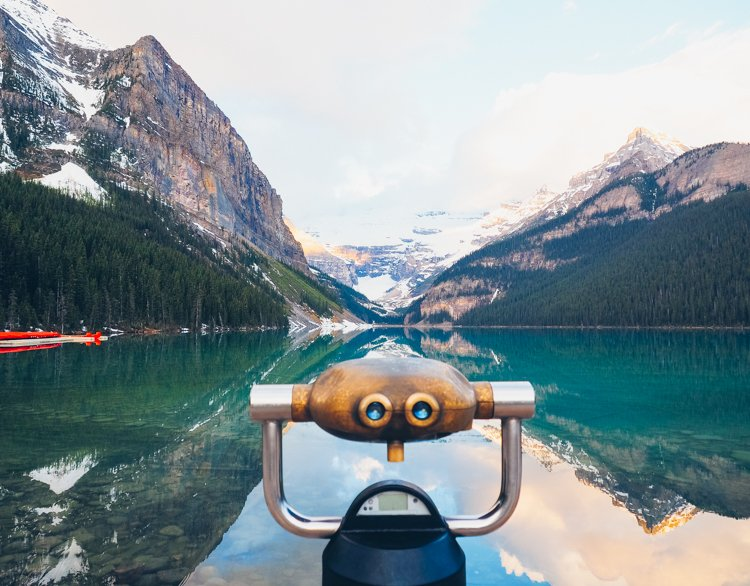 Visiting Lake Louise, Banff National Park, Alberta Canada