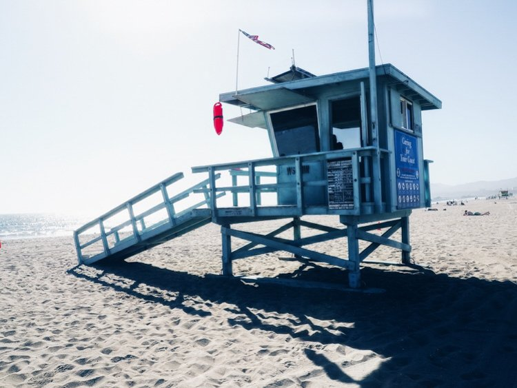 Venice Beach Lifeguard Tower - Venice Beach Boardwalk