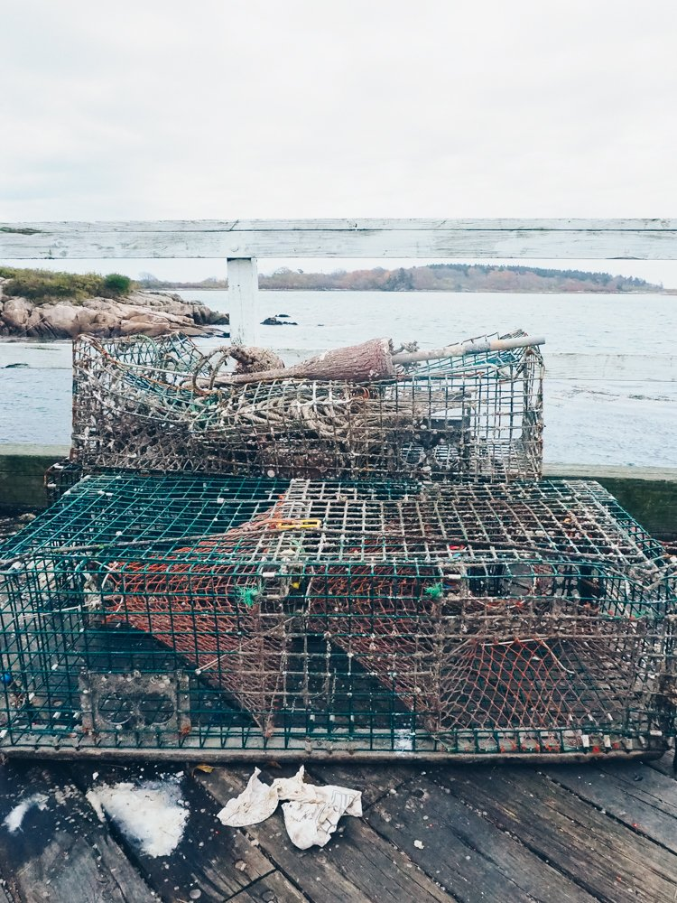 Lobster traps, Kennebunkport, Maine - Photos to Inspire you to Visit Maine in the Fall