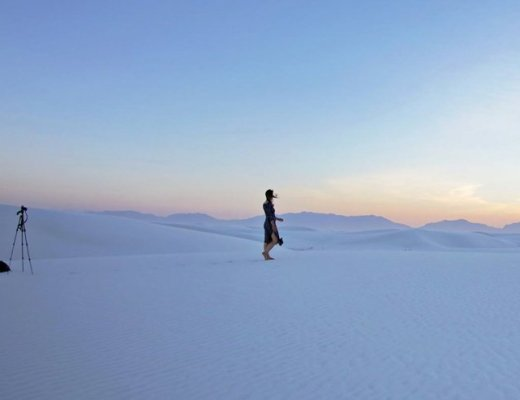 White Sands National Monument - How to Take Amazing Photos of Yourself when Traveling Solo