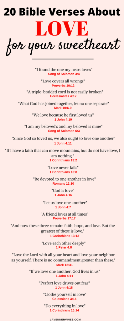popular bible verses about love