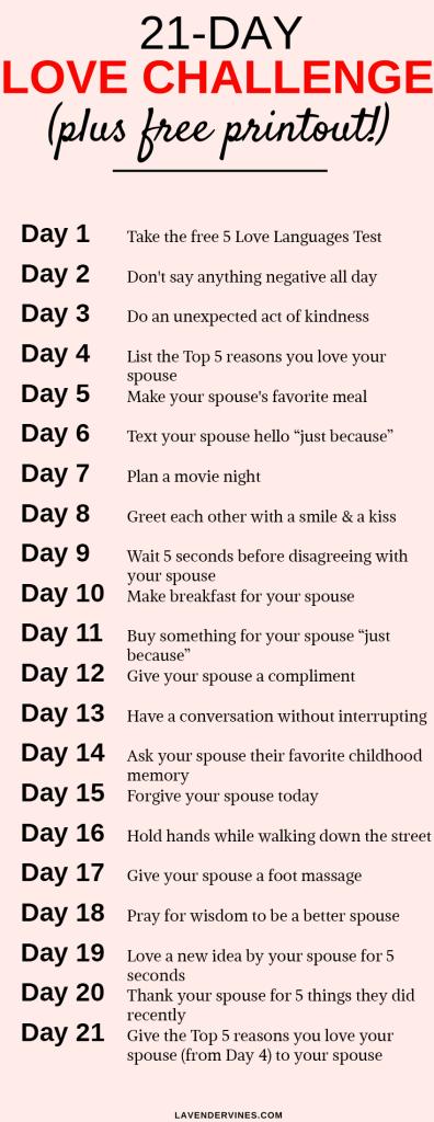 21 Day Love Challenge