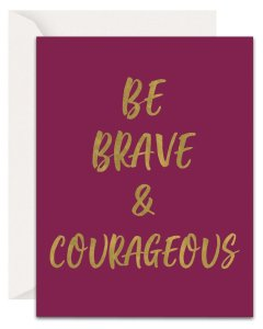 Christian Encouragement Cards - Lavender Vines - Be Brave