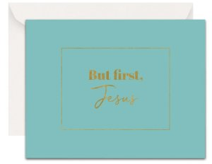 Christian Encouragement Cards - Lavender Vines - But, First Jesus (Robin)