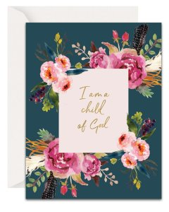 Christian Encouragement Cards - Lavender Vines - Child of God