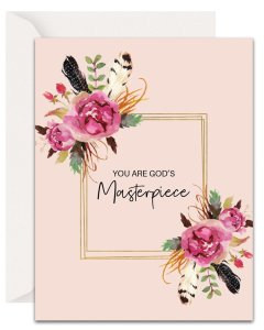 Christian Encouragement Cards - Lavender Vines - God's Masterpiece