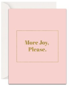 Christian Encouragement Cards - Lavender Vines - More Joy, Please