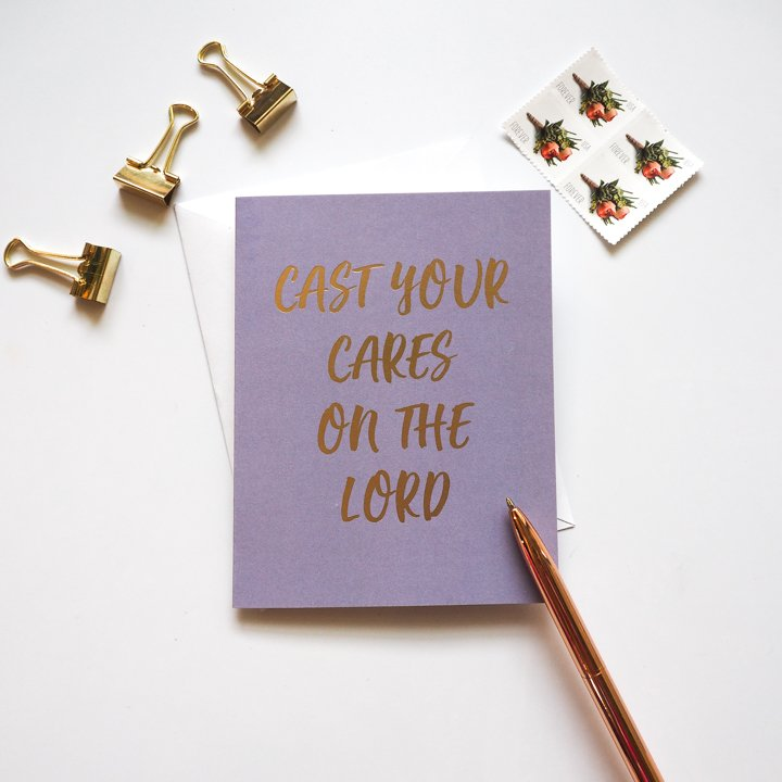 Christian encouragement cards - Lavender Vines