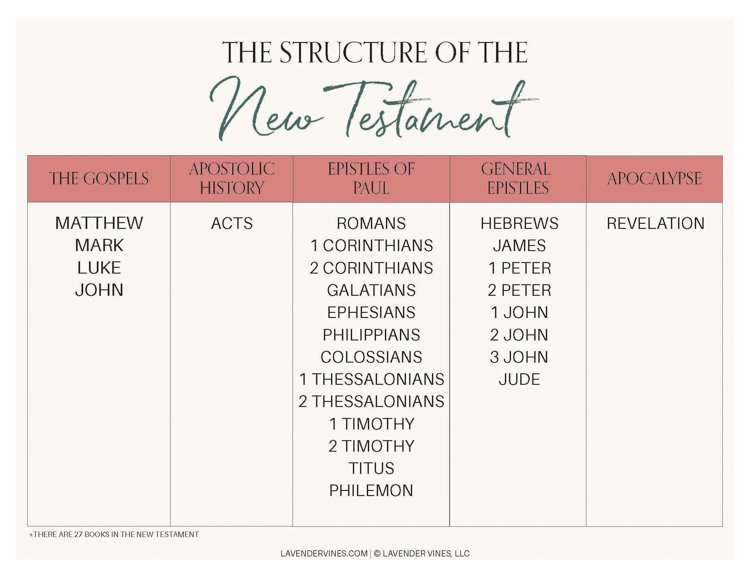 Divisions of the Bible PDF - Divisions of the New Testament PDF