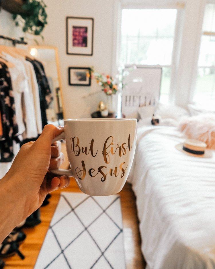 Top 10 Bible Study Tips - But First, Jesus Mug