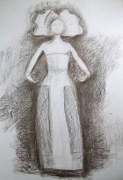 Lilly escultura carboncillo