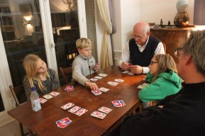 A lively game of Skip-Bo!