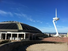 Olympic pool and telecommunications tower
