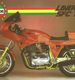 it s the corsa s engine a specific cosmetics and cycle part 300mm brake discs marzocchi fork m1r and a less weight the laverda 1000  [ 1200 x 772 Pixel ]