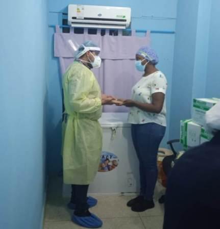 Las autoridades de salud recibieron el segundo lote de la vacuna Sputnik V en el Humnt.