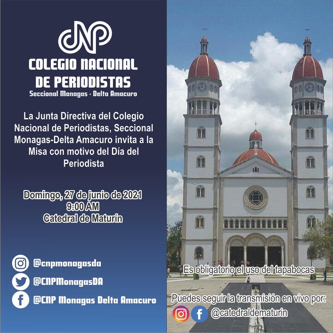 cnp monagas realiza misa del dia del periodista en la catedral de maturin laverdaddemonagas.com flyer cnp