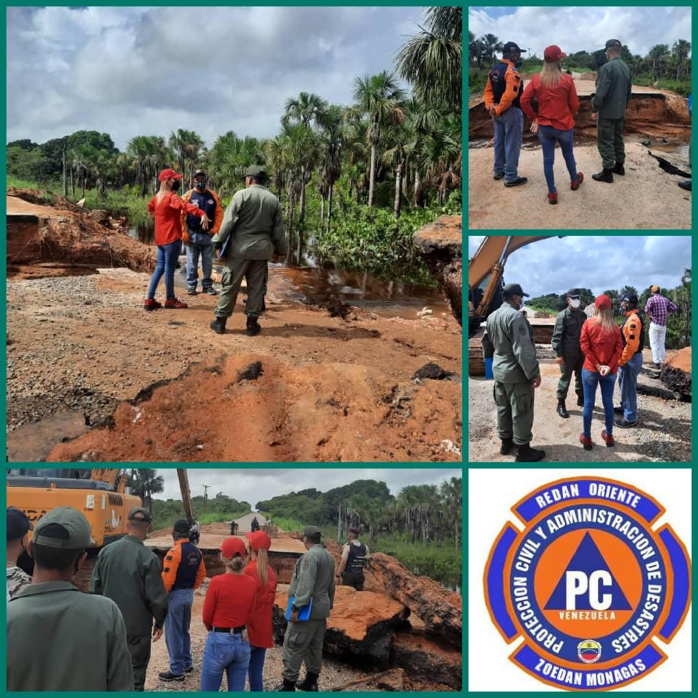 autoridades inspeccionan danos por derrumbe en la via al sur de monagas laverdaddemonagas.com e7j2werwuaykuw9