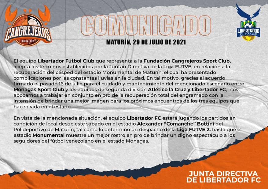 estadio monumental de maturin pudiera ser suspendido por la liga futve laverdaddemonagas.com libertador fc
