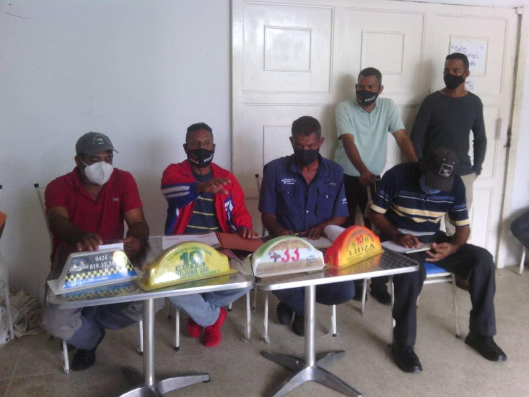 Los transportistas le dieron apoyo a Arbenys Padilla en Punta de Mata.