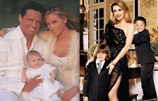 Luis Miguel, Aracely Arámbula and her children/Picture: The Law, 100.5 FM