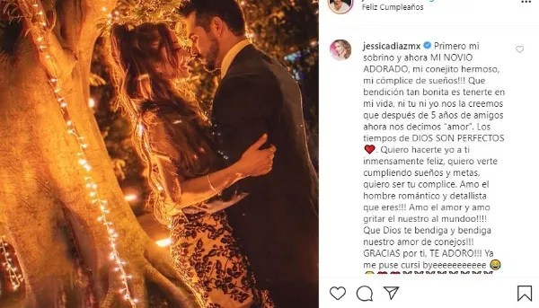 Jessica Diaz also gave a loving message to José Ron/Photo: Instagram