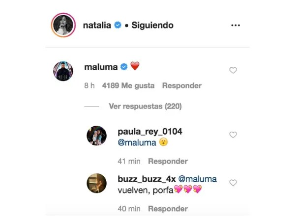 This was the reaction Maluma to the message of his ex-Photo: Instagram