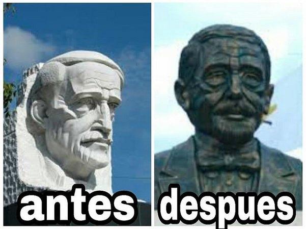"Entre críticas a busto de Duarte, no han faltado los famosos ""memes"""